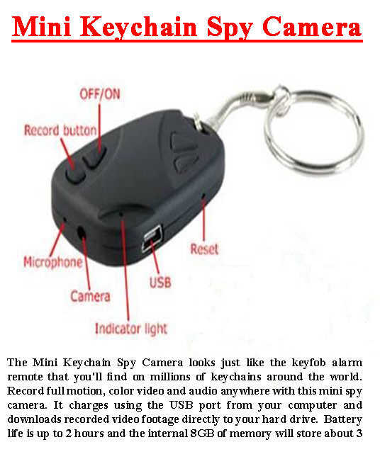 Mini Keychain Spy Camera